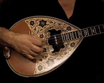 Greek music instrument called bouzouki