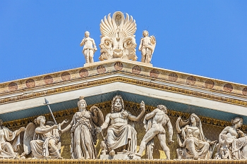 Olympian Gods Pediment at National Academy in Athens