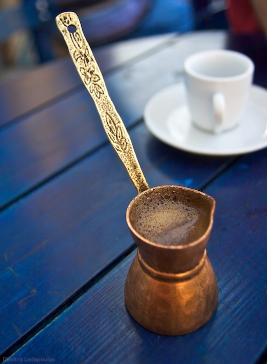 Tool for making greek coffee named briki