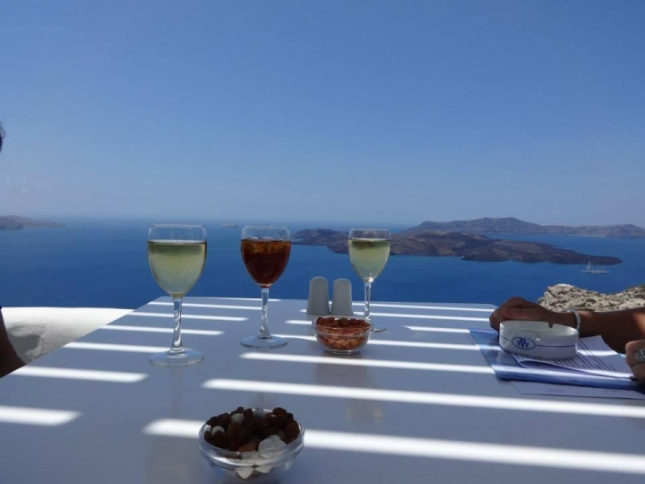 Janet Colletta Behnke - Santorini in a Glass