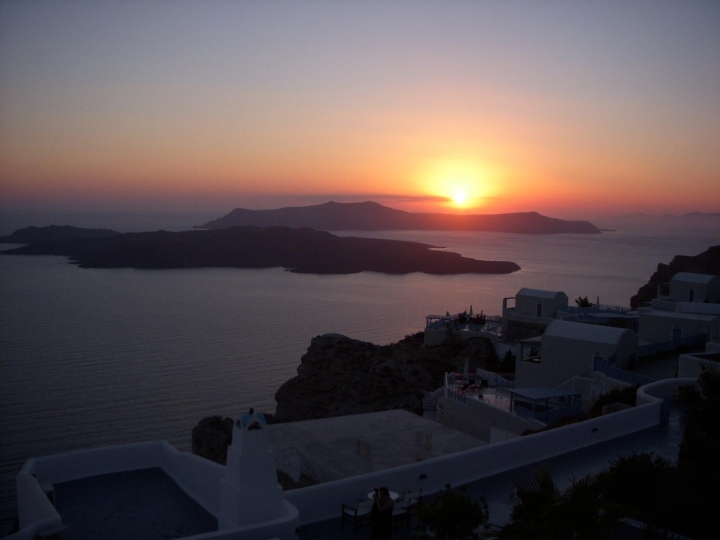 Walter Wood Jr - Sunset in Santorini