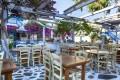 Lunch at a Greek tavern, Mykonos island